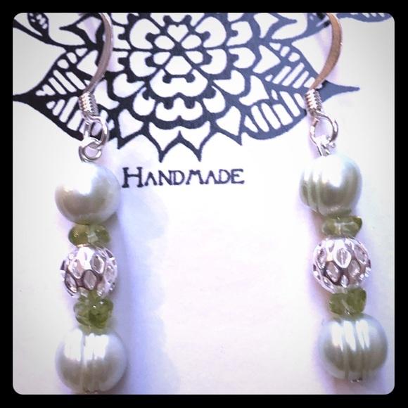 Pearl & Peridot Earrings